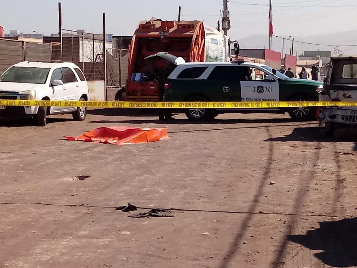 Trabajador recolector de basura fallece arrollado en camión que trabajaba.