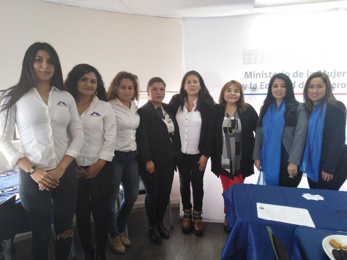 Seremi de la MujeryEG se reunió con integrantes de agrupaciones WIM y Mujer Minera Tarapacá.