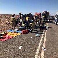 Dos fallecidos y cinco lesionados fue el resultado de un accidente en Pintados.