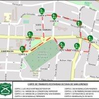 Cortes de tránsito los días 16, 17 y 18 de Agosto con motivo de la Festividad Octava de San Lorenzo.