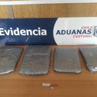 Aduanas incauta $170 millones en droga a viajeros extranjeros.
