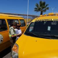 Carabineros y Seremi de Transporte fiscalizan a transporte escolar.