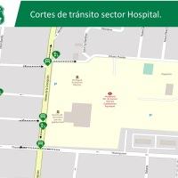 Se realizan modificaciones de tránsito para mantener despejado y expedito tránsito en el Hospital de Iquique.