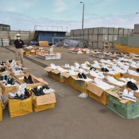 PDI Iquique incauta 9.305 pares de zapatillas falsificadas avaluadas en $558.300.00 millones.
