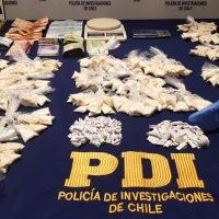 PDI Iquique detiene a 2 mujeres y 2 adolescentes por el delito de tráfico de drogas.