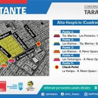 Este lunes 8 de junio comienza el cierre de calles en sectores de Iquique y AltoHospicio