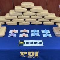 PDI detiene a dos sujetos con más de 27 kilos de droga avaluada en 140 millones de pesos