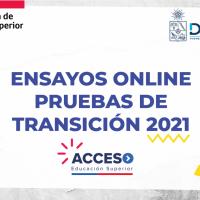 Acceso a la Educación Superior: Ya están publicados ensayos OnLine de la nueva Prueba de Transición 2021