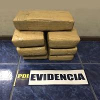 PDI Iquique incauta más de 8 kilos de droga avaluada en 140 millones de pesos