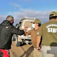 Carabineros rescata a motorista extraviado