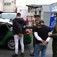 Dos chilenos un peruano y un boliviano detenidos por robo con intimidación.
