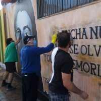 Atentan contra mural de ejecutado político Freddy Taberna en Iquique
