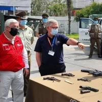 En prisión preventiva quedaron los 8 imputados adultos detenidos con fusil de guerra y armas