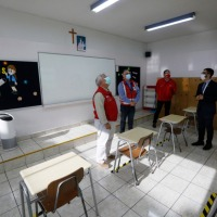 Autoridades supervisan protocolos de seguridad en establecimientos educacionales para el inicio del año escolar