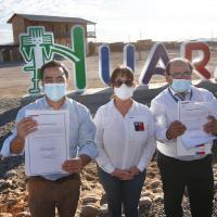 Subsecretario de Bienes Nacionales entregó 13 títulos de dominio y dos terrenos para construir plazas en Huara