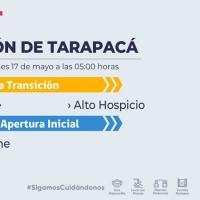 Iquique y Alto Hospicio avanzan a etapa de Transición en tanto, Colchane pasó a etapa 4 de Apertura Inicial.