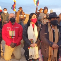 Ministra Rubilar, Subsecretaria Balladares y Director Nacional de CONADI celebraron Machaq Mara en Cariquima