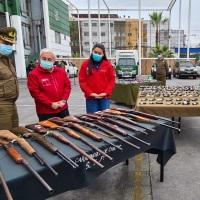 Carabineros enviará 190 armas para su destrucción