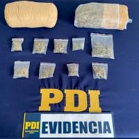 PDI Tarapacá detiene a traficante de drogas tras denuncias por VIF en contra de sujeto de 21 años